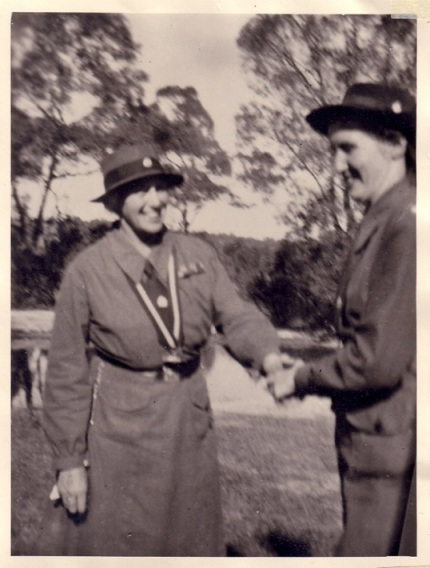 Margaret with Lady Baden                       Powell 1949
